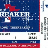 AL Tiebreaker Game: Texas Rangers tickets
