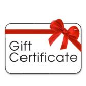 Gift Certificate tickets