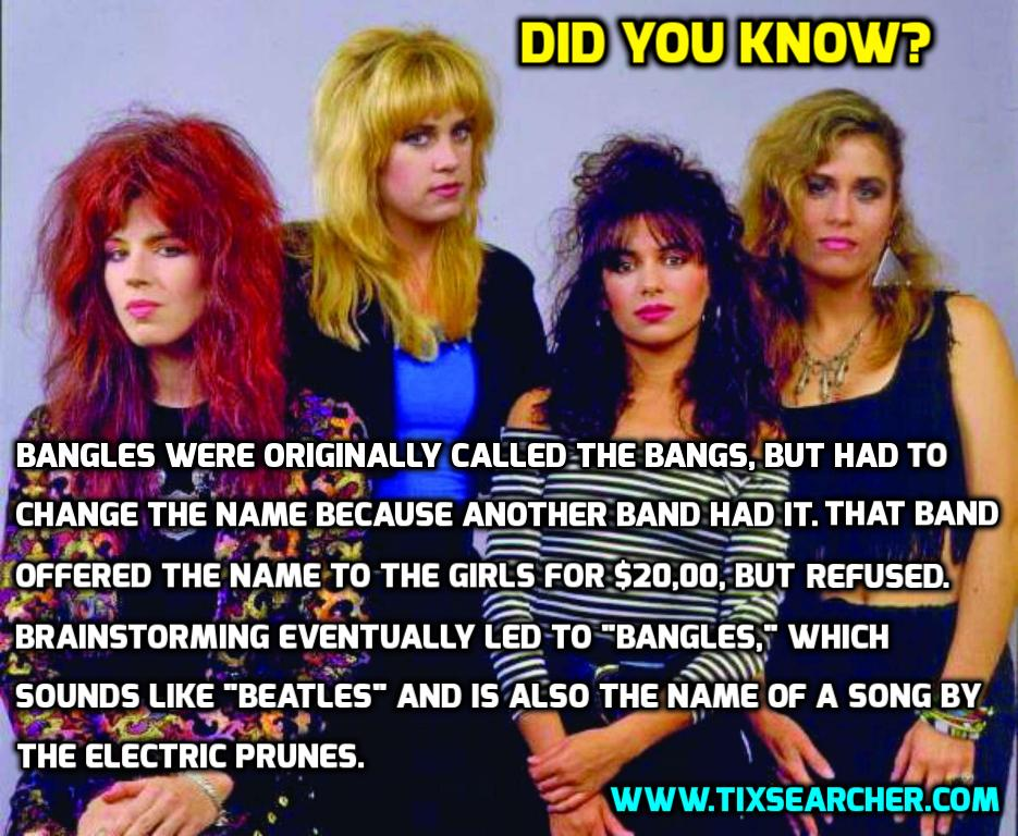 abadf17bdb022 The Bangles - Did You Know?